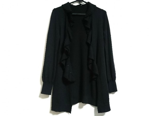 MATERIA(マテリア) カーディガン サイズ38 M レディース美品  黒 ロング丈