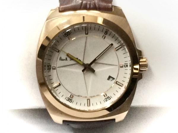 PaulSmith(ポールスミス) 腕時計 1116-S088026 メンズ 革ベルト 白