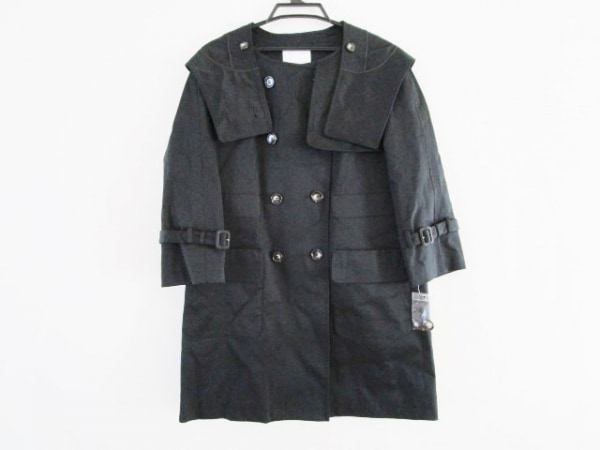 aquagirl(アクアガール) コート サイズ38 M レディース美品  黒 春・秋物