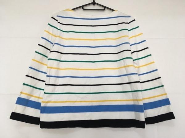 グレースコンチネンタル 長袖カットソー サイズ36 S レディース美品  白×黒×マルチ