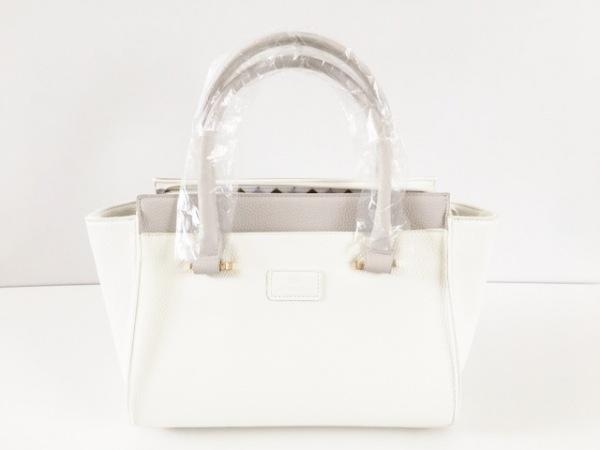 yumi katsura(ユミカツラ) ハンドバッグ 白×グレー レザー