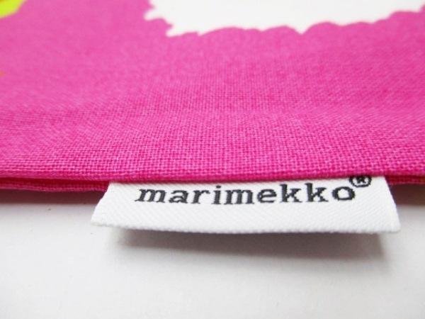 marimekko(マリメッコ) 小物新品同様  オレンジ×マルチ クッションカバー キャンバス