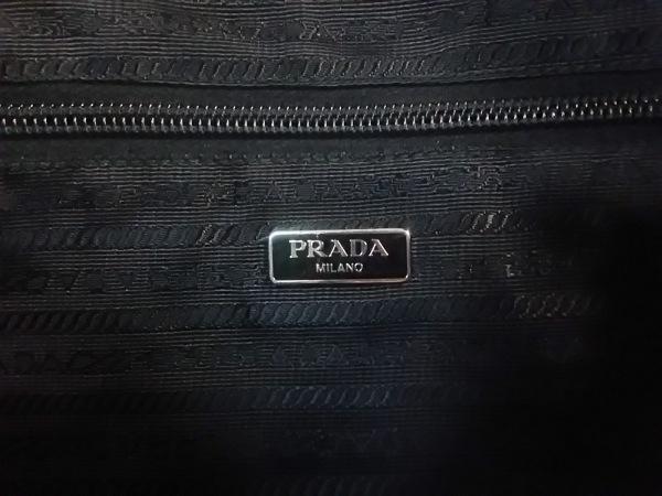 PRADA(プラダ) ショルダーバッグ - 黒 ナイロン×レザー