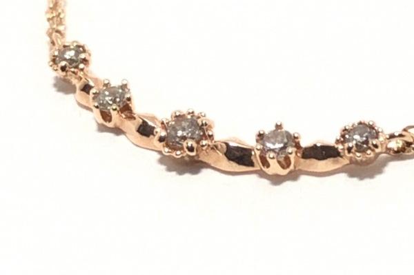 NOJESS(ノジェス) ネックレス K10×ダイヤモンド 0.08カラット