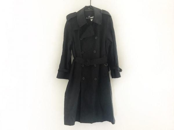 アクアスキュータム トレンチコート サイズ36 S メンズ美品  黒 ネーム刺繍/春・秋物