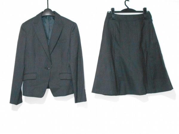 ニューヨーカー スカートスーツ サイズ11AR M レディース美品  ダークグレー×ピンク