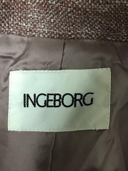 INGEBORG(インゲボルグ) ジャケット サイズL レディース ピンクブラウン リボン