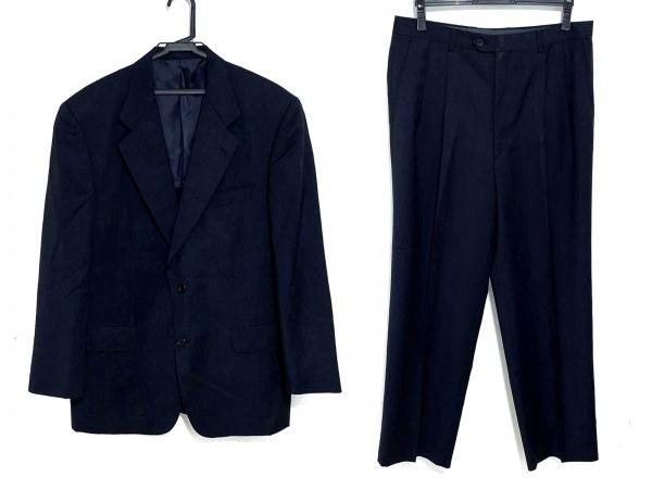 セルッティ1881 シングルスーツ サイズ48L メンズ ダークネイビー ネーム刺繍