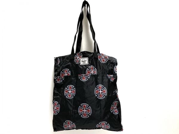 HERSCHEL(ハーシェル) トートバッグ 黒×白×レッド ナイロン