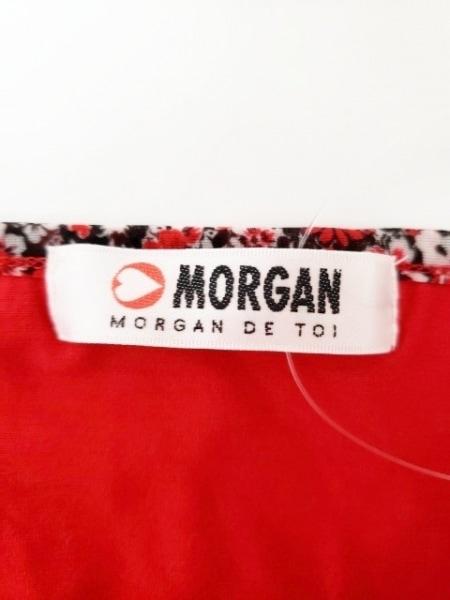 MORGAN(モルガン) ワンピース サイズF レディース新品同様  レッド×白×黒 花柄