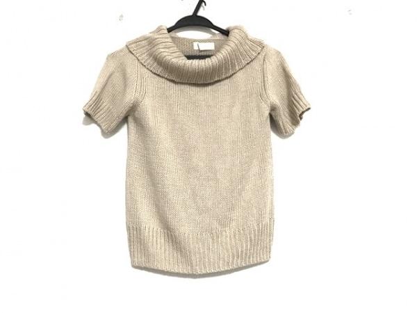インゲボルグ 半袖セーター サイズM レディース美品  ベージュ タートルネック