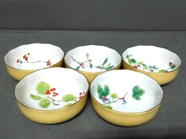香蘭社(コウランシャ) 食器新品同様  白×イエロー×マルチ ボウル×5セット 陶器