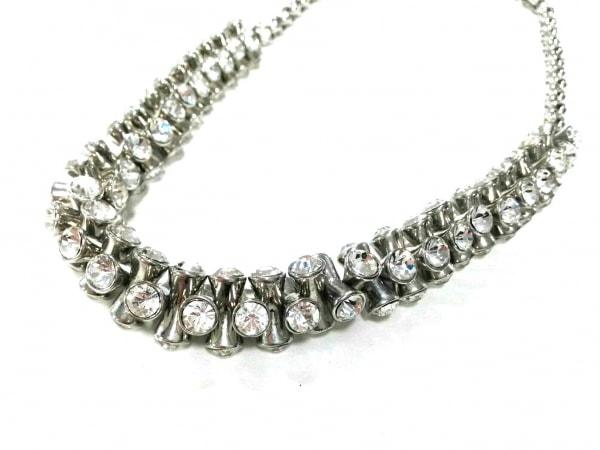 ケネスジェイレーン ネックレス美品  金属素材×ラインストーン シルバー×クリア