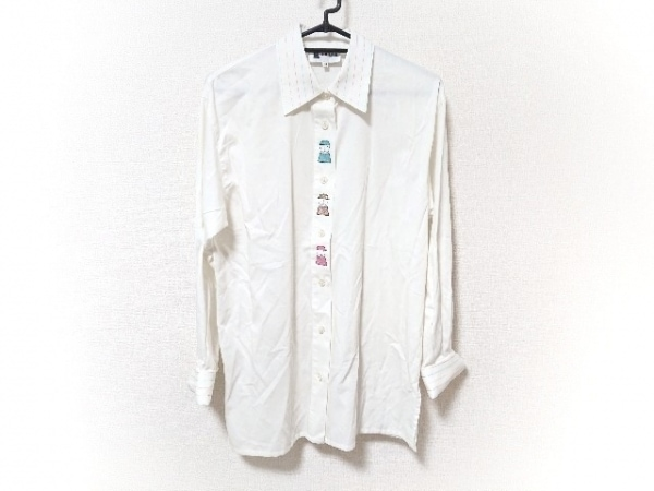 PICONE(ピッコーネ) 長袖シャツブラウス サイズ38 S レディース美品  白