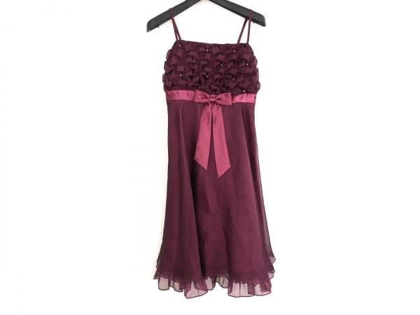 プリフェレンスパーティーズ ドレス サイズ38 M レディース美品  ボルドー ビーズ