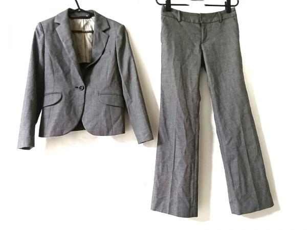 LES MUES(レミュー) レディースパンツスーツ レディース 黒×白
