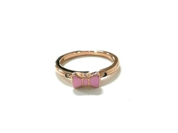 PonteVecchio(ポンテヴェキオ) リング美品  K9×ダイヤモンド 0.01カラット/リボン