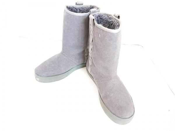 THE NORTH FACE(ノースフェイス) ブーツ 24.0 レディース グレー スエード×化学繊維