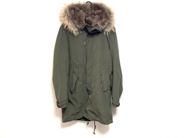 maktig(マクティグ) コート サイズ46 XL レディース カーキ 冬物/ファー