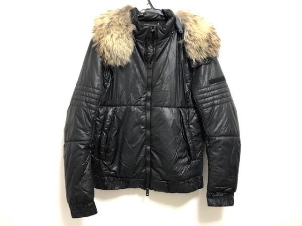アレッサンドロデラクア ダウンジャケット サイズ48 XL メンズ美品  黒 冬物/ファー