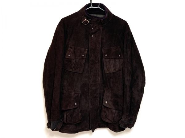 maktig(マクティグ) コート サイズ2 M レディース ダークブラウン 冬物/レザー