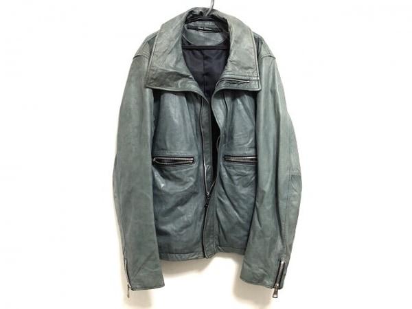 BARK TANNAGE(バークタンネイジ) ライダースジャケット メンズ美品  ダークグリーン