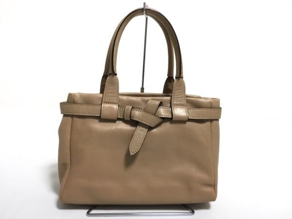 土屋鞄製造所(ツチヤカバンセイゾウショ) ハンドバッグ美品  ベージュ レザー