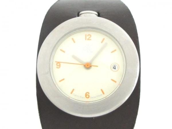 CalvinKlein(カルバンクライン) 腕時計美品  K16131 レディース 革ベルト アイボリー