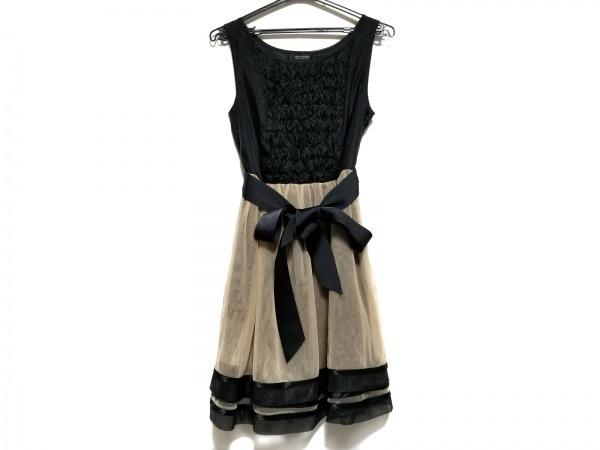ダブルスタンダードクロージング ドレス サイズF レディース美品  黒×ベージュ