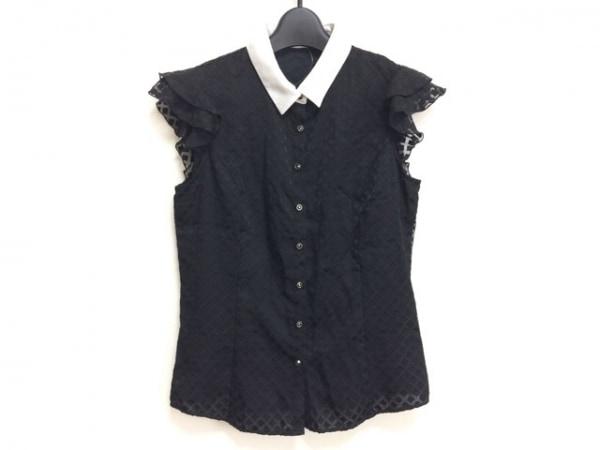 ラブレス ノースリーブシャツブラウス サイズ36 S レディース 黒×白 フリル
