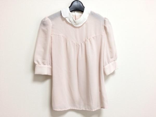 snidel(スナイデル) 半袖カットソー サイズF レディース美品  ピンク×白