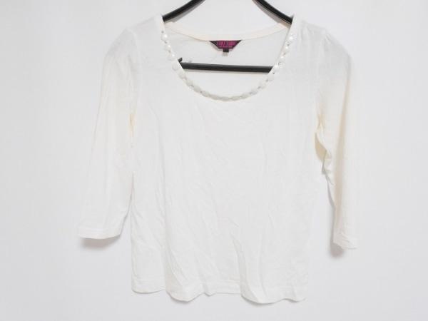 YUKITORII(ユキトリイ) 長袖Tシャツ サイズ38 M レディース アイボリー ビーズ