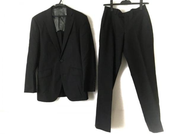 リチャードジェームス シングルスーツ メンズ 黒 ストライプ/ネーム刺繍