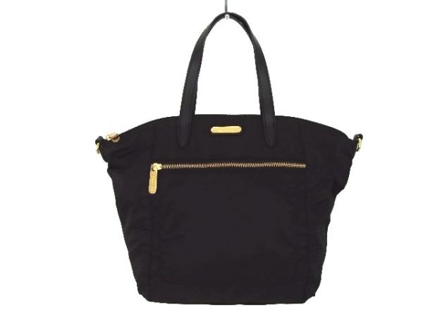 Victoria's Secret(ヴィクトリアシークレット) ハンドバッグ 黒 ナイロン×合皮