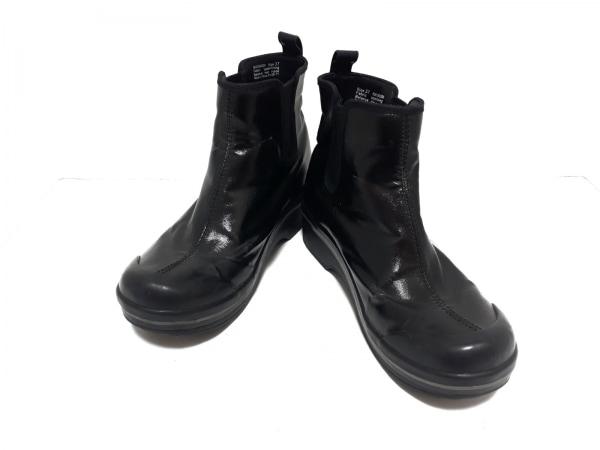 DANSKO(ダンスコ) ショートブーツ 37 レディース 黒 サイドゴア 化学繊維×ラバー
