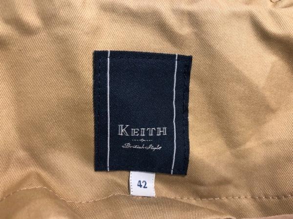 KEITH(キース) トレンチコート サイズ42 L レディース美品  ライトブラウン 冬物
