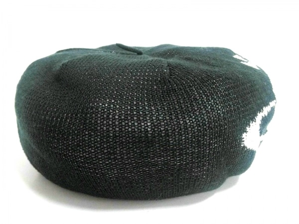 ヴィヴィアンウエストウッドアクセサリーズ 帽子 M新品同様  黒×白 ニットベレー