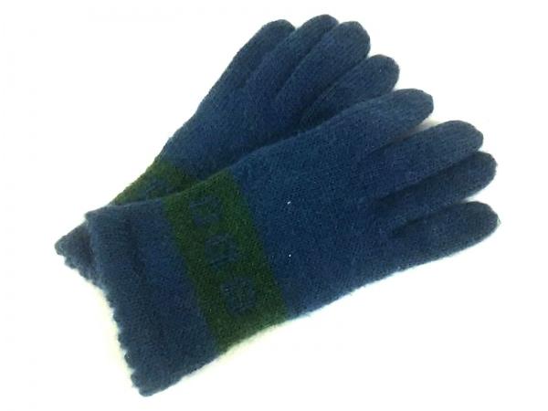 Sybilla(シビラ) 手袋 レディース美品  ネイビー×グリーン ウール