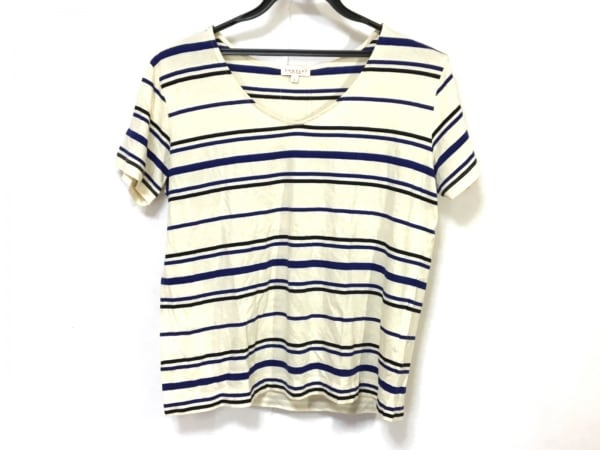 demylee(デミリー) 半袖Tシャツ サイズS レディース アイボリー×ブルー×黒 ボーダー