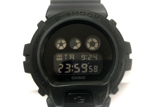 CASIO(カシオ) 腕時計美品  G-SHOCK DW-6900BBA メンズ ラバーベルト 黒
