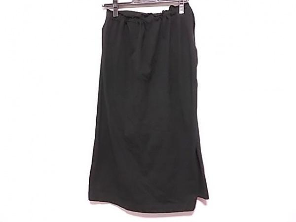 Y's(ワイズ) ロングスカート サイズ2 M レディース 黒 ウエストゴム/変形
