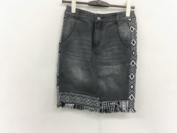 Ron Herman(ロンハーマン) スカート サイズXS レディース美品  黒×白 デニム