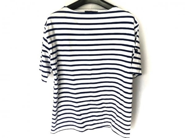 セントジェームス 半袖Tシャツ サイズ38 M レディース美品  白×ブルー ボーダー