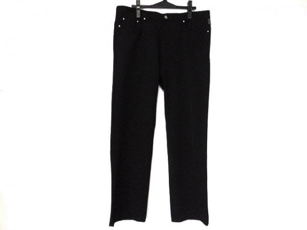 ヴェルサーチジーンズシグネチャー パンツ サイズ38/52 メンズ美品  黒