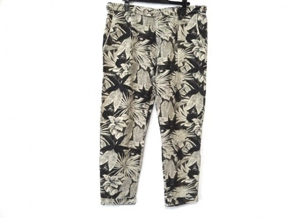 BERWICH(ベルウィッチ) パンツ サイズ36 S メンズ 黒×ベージュ 麻