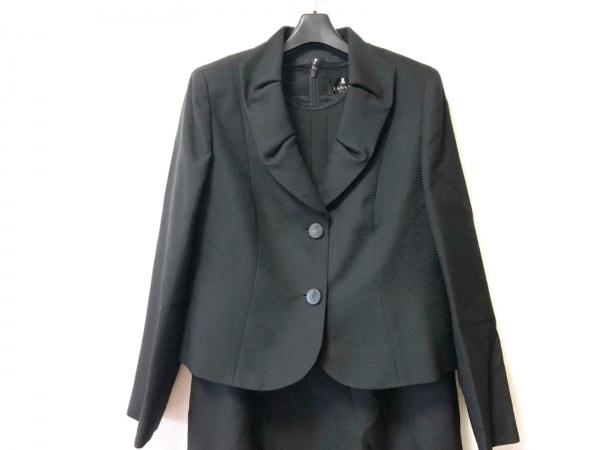 LANVIN(ランバン) ワンピーススーツ サイズ44 L レディース美品  黒 NOIR
