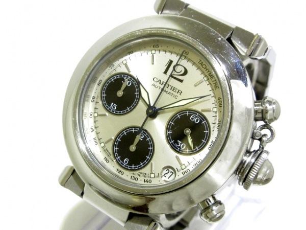 Cartier(カルティエ) 腕時計 パシャCクロノグラフ W31048M7 レディース SS シルバー