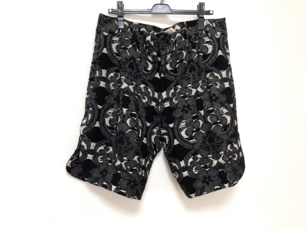 LIMI feu(リミフゥ) ハーフパンツ レディース美品  黒×白