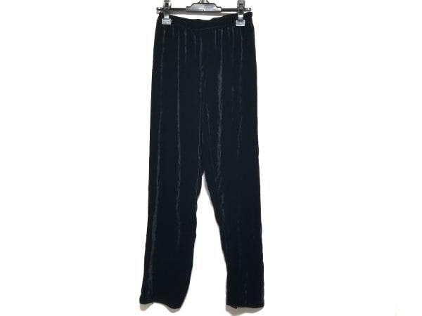 forte_forte(フォルテフォルテ) パンツ サイズI S レディース 黒 ベロア/ウエストゴム