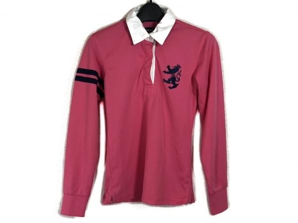 Admiral(アドミラル) 長袖ポロシャツ サイズS レディース ピンク×ダークネイビー